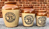 1915 Medium Transferred Cream Pot - HAILWOOD'S RICH MANCHESTER CREAM (G80)