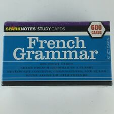 Sparknotes Study Cards - French Grammar - 600 Cards New In Plastic Language HG33
