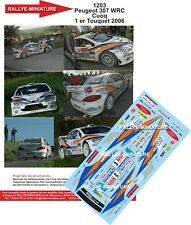 DECALS 1/32 REF 1203 PEUGEOT 307 WRC CUOQ RALLY OF THE TOUQUET 2006 RALLY