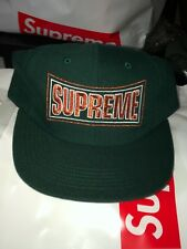 Supreme Metallic Arc 6-panel Hat-DK Green/Orange