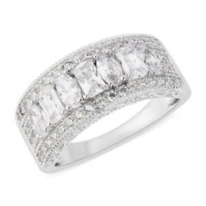 Cubic Zirconia Ring in 925 Sterling Silver, 2.85 ctw, Size 10.