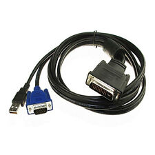 DVI M1-DA(30+5) Pin Male to Male 15Pin VGA + USB Adapter Connection Cable GYTH
