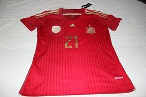 T-Shirt Selection Spain Adidas Size L of The No 21 Silva Model Cotizado Shirt