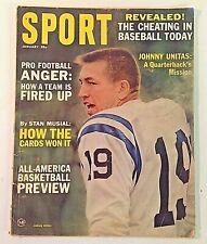 Vintage Jan 1965 SPORT Magazine Johnny Unitas Pro Football Basketball Preview