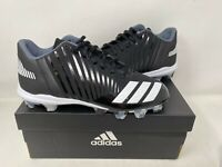 NEW! Adidas Youth Boy's Icon MD Lace Up Baseball Cleats Blk/Wht #B39223 W59 ck