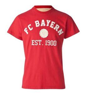 FCB FC Bayern München T-Shirt College 1900 Fanshirt Herren Gr L