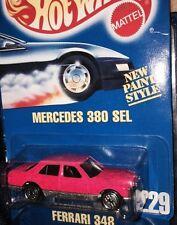 1992 Hot Wheel Signature Hot Pink Metal Flake Coll # 226 Mercedes 380 Sel  Rare
