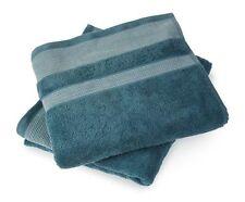 Geometric Teal Towels - Hand Towel, Bath Towel or Bath Sheets 100% Cotton