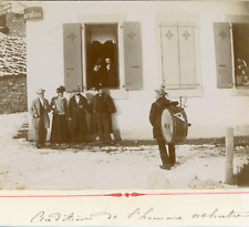 Suisse, L'homme orchestre, ca.1895, Vintage citrate print Vintage citrate p