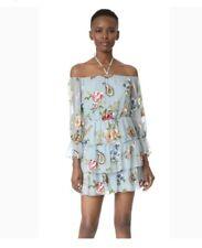 NWT Alice & Olivia Icy Aqua Multi Dress Size 6