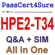 HP Using HPE OneView HPE2-T34 Exam Q&A+SIM