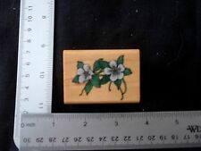 Shaded Columbines by Comotion Rubber Stamps  (#576), flowers, leaves