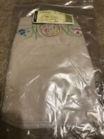 Longaberger Flax & embroidered fabric liner 2012 Easter Basket NEW
