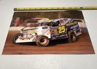 "Erick Rudolph •Big Block •Super Dirt Series •Randy Chrysler Racing #25 - 8""x12"""