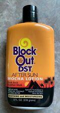 Block Out Dst ~ After Sun Mocha Lotion ~ Black Rock, Egyptian Musk ~ 8 fl oz