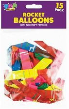 15 x Rocket Balloons Party Novelty Shape Party Loot Bag Children Favours Tricks