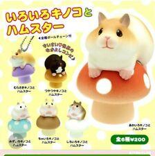 Brand New Japan Epoch Hamsters & Mushrooms Figure Capsule Toy Set of 6