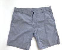Men's LULULEMON Flat Front Casual/Walking Shorts Blue Denim Look Size 38 Large L