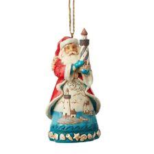 Jim Shore Coastal Santa with Lighthouse Christmas Ornament 6004033 New
