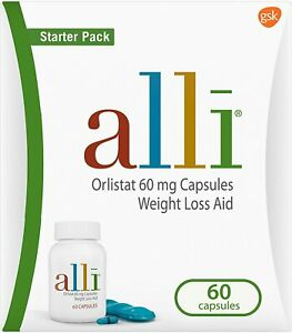 alli Weight Loss Aid Diet Pills, 60mg Starter Pack, 60 60 Count (Pack of 1)