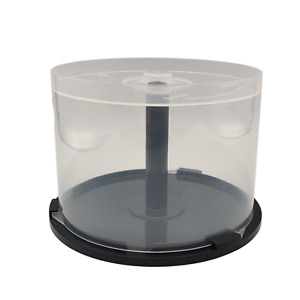 50 Disc Spindle Tub Empty Storage | 12CM CD DVD Cake Box Case Cakebox CD-R DVD-R