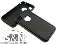 IPHONE 4 4S Cover Silicone Case Cube Case Black