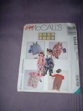 MCCALLS PATTERN 6546 ~ TODDLERS COZY TOGS OVERALLS HAT TOP ~ SZ 2-4 ~ NEW