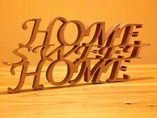 Holz Schriftzug Home Sweet Home H500 x 200 x 30mm Modern  Hingucker zum Stellen