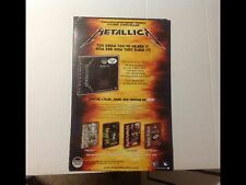 Lp Cd Metallica Promo Poster 17x11apx ride the lightning music Record. .