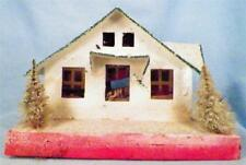 Christmas House Putz Japan Train Display White Pink Green Roof Vintage Lg As Is