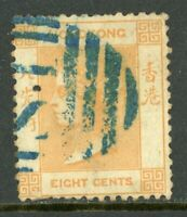 China 1863 Hong Kong 8¢ Watermark CCC QV SG #11 VFU C472 ⭐⭐⭐⭐⭐⭐