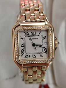Cartier Panthère 27mm 18ct Yellow Gold, Diamonds, 2008, box&papers (148)