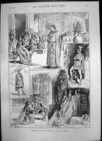 Antique Print Antony Cleopatra Princess Theatre Archbishop Canterbury 1890 19th