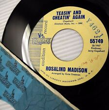 ROSALIND MADISON 64 soul PROMO 45 TEASIN & CHEATIN AGAIN ONCE MORE Liberty e132