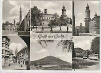 Ansichtskarte Görlitz - Leninplatz/Kaisertrutz/Untermarkt/Landeskrone/Turm - s/w