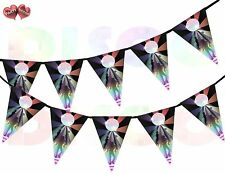 Dance Floor Disco Ball Triangle I Love 70's 80's Theme Bunting Banner 15 flags