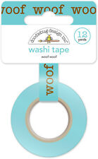 Scrapbooking Crafts Doodlebug Washi Tape Puppy Love Woof Blue Repeat Words Dog