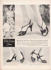 Vintage advertising print ad FASHION Red Cross Shoes Heels Enchantress straps 57