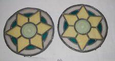 C165  Paire de vitraux au plomb - XIX ème siècle - circulaire