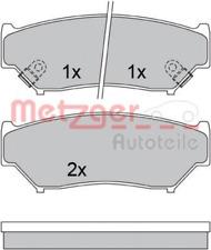 Bremsbelagsatz, Scheibenbremse METZGER 1170528 Vorderachse