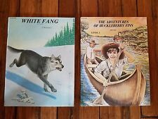WHITE FANG and THE ADVENTURES OF HUCKLEBERRY FINN, LIKE NEW, CLASSICS TO LIFE