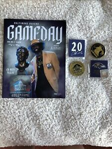 ED REED COMMEMORITIVE COIN AND PROGRAM -HALL OF FAME -RAVENS/PATRIOTS