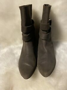 Joan And David Cigrayton Booties Brown Sz 7