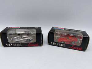 Monogram Mini Exacts 1/87 Diecast Lot Mercedes Gullwing & Ferrari 250 G.T.O.