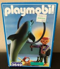 NEW Vintage 1993 Playmobil #3649 Dolphin & Trainer Factory Sealed Made Germany