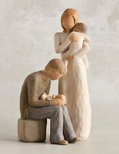 Willow Tree Mother & Father with Two Babies Figurine Gift Set Family Group