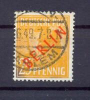 Berlin 27 II Rotaufdruck 25 Pfg. Aufdruckfehler gestempelt geprüft (xs177)
