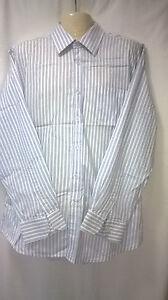 Mens Orsini uomo Shirt, 43, Long Sleeves, 100% Cotton, Stripes