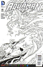 AQUAMAN (2011) #48 - Adult Coloring Book Cover - Back Issue
