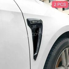 Glossy Black Universal Car Fender Air Vent Trims Sticker Soft Rubber Accessories